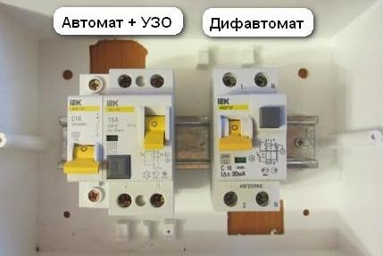 УЗО или дифавтомат: что выбрать