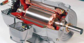 Принципиальное устройство электродвигателя